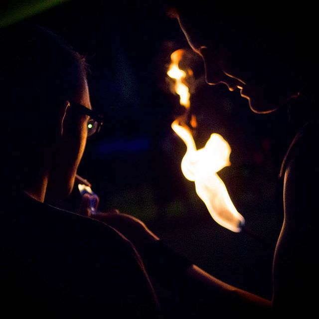 Being a human cigarette lighter! . #fireperformer