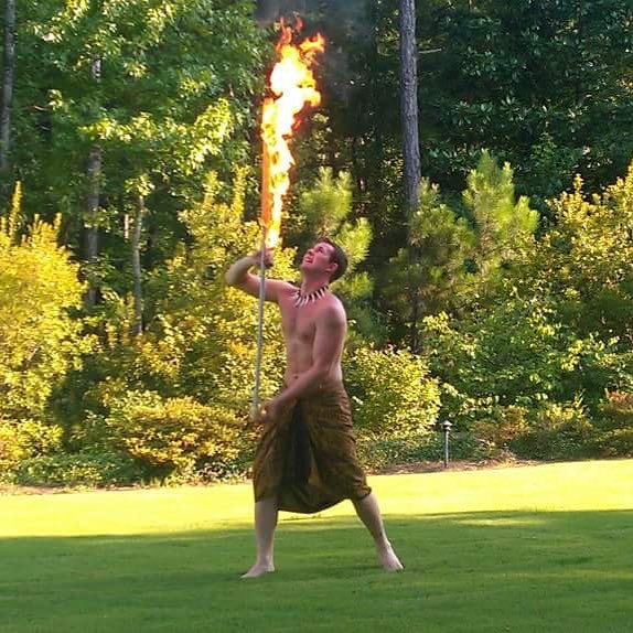 Tonight is a luau night! #luau #firedance