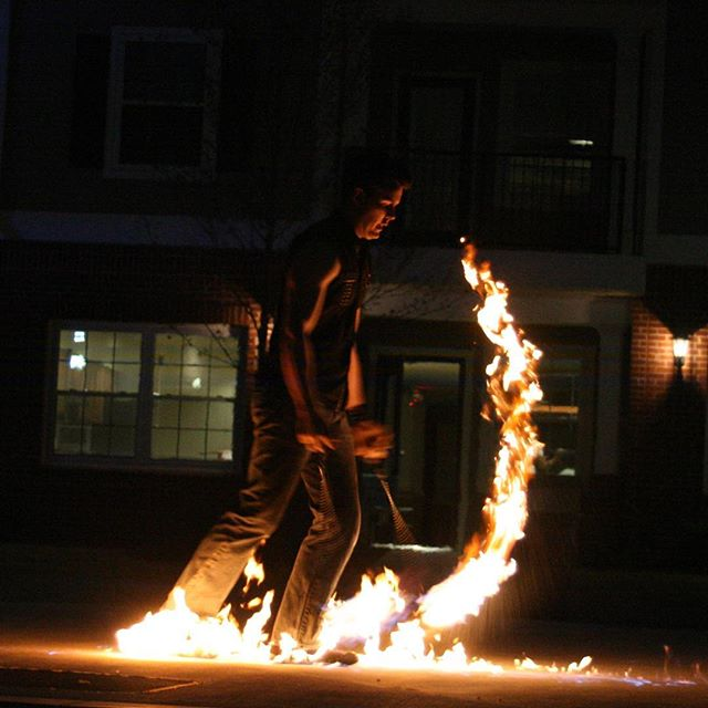 A walk of fire and dance . #firedance #firepoi
