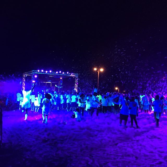 When your performance is at a glow foam 5k