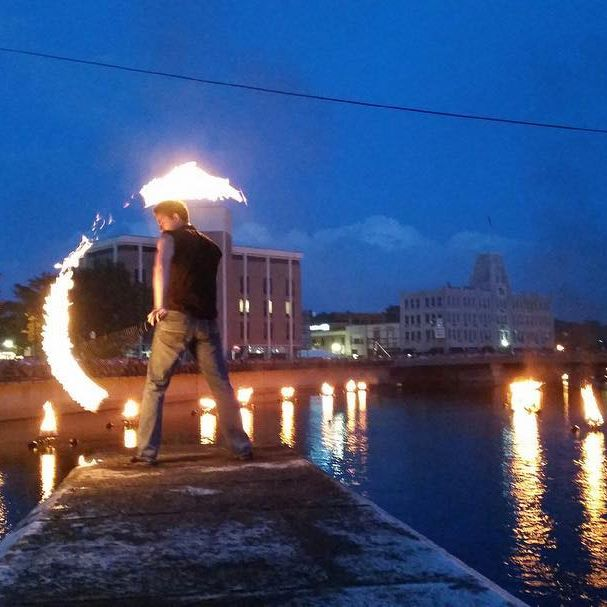 Fire over water. . #waterfiresharon #firepoi