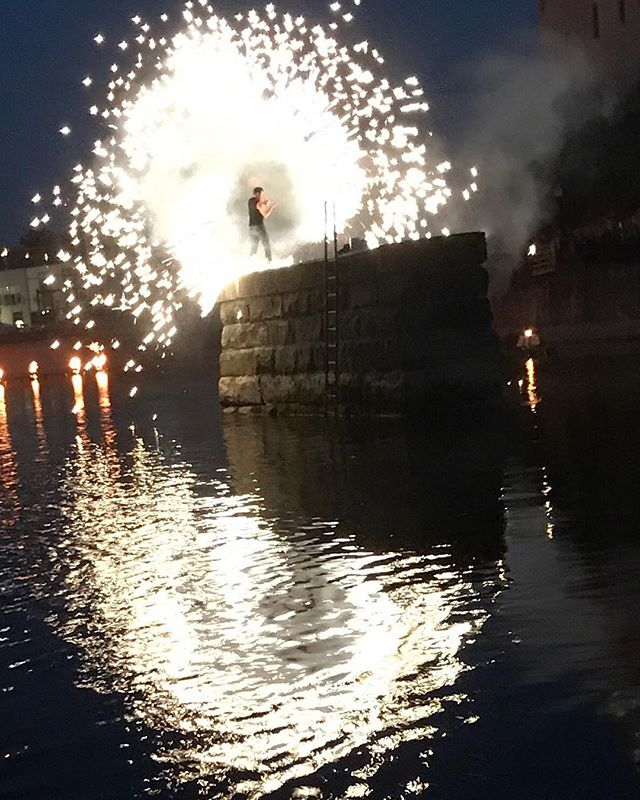 Great shot from a boat at #waterfire Sharon!