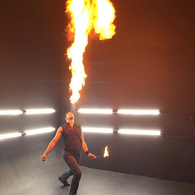 Fire breathing on set. . #setlife #musicvideo