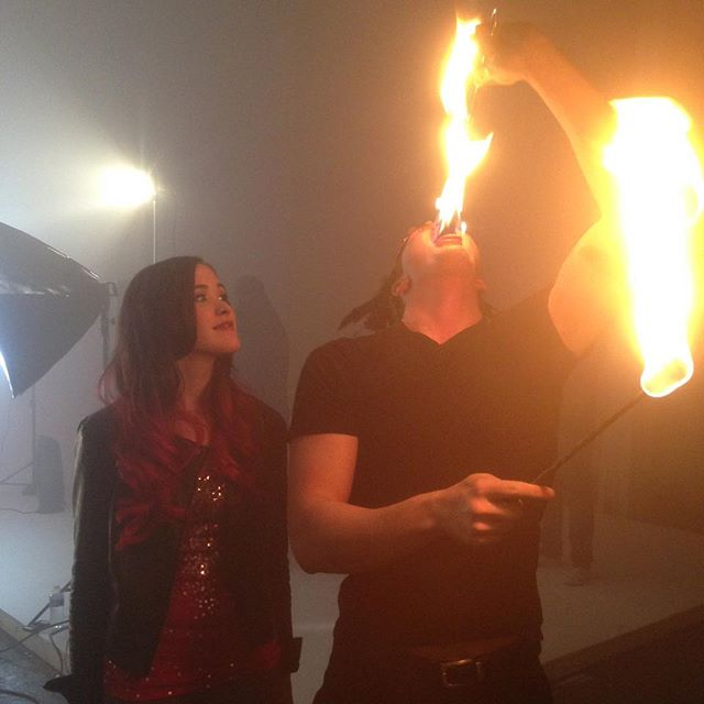 #tbt fire eating and breathing for @elleranaemusic