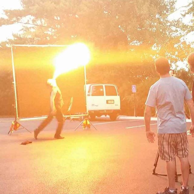 #tbt Fire breathing for a Toyota commercial .